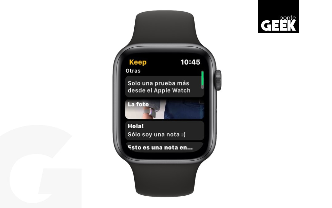 google keep en apple watch